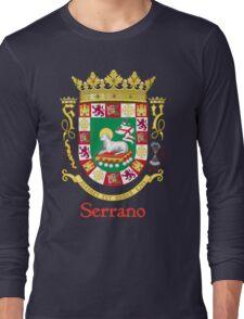 Serrano Shield of Puerto Rico Long Sleeve T-Shirt