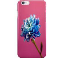 Blue Retro Flower on Pink iPhone Case/Skin