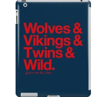 Loyal to the Twin Cities (Red Print) iPad Case/Skin