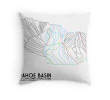 Arapahoe Basin, CO - Minimalist Trail Map Throw Pillow