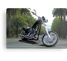 'Black Dawg' Bike 2 Metal Print