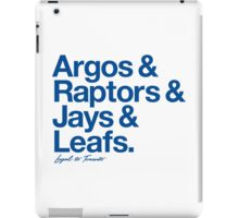 Loyal to Toronto (Blue Print) iPad Case/Skin