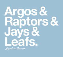 Loyal to Toronto (White Print) Kids Clothes