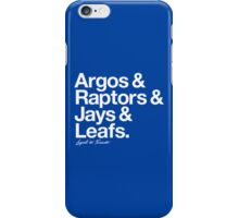 Loyal to Toronto (White Print) iPhone Case/Skin
