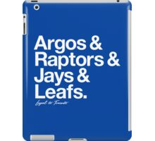 Loyal to Toronto (White Print) iPad Case/Skin