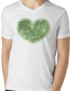 Pot Heart Mens V-Neck T-Shirt