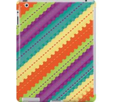 Colorful Diagonal Striped Pattern iPad Case/Skin
