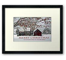 Merry Christmas - 2015 Framed Print