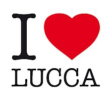 I ♥ LUCCA Photographic Print