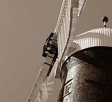 Waltham Windmill Sails in Sepia by John Messingham