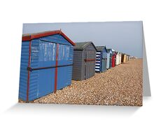 Beach Huts on Hayling Island Greeting Card
