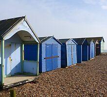 Beach Huts on Hayling Island by looneyatoms
