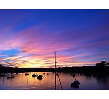 Harbour Sunset 1 Photographic Print