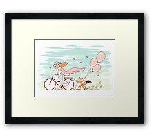 Spring Ride Framed Print
