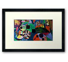 Nebula Compass Framed Print