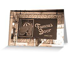 New Orleans - Boubon Street Club Greeting Card