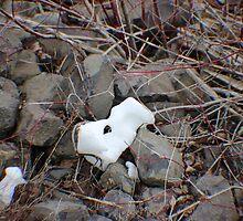 Last vestiges of winter series I - snow sculpture VI by prettymeadow
