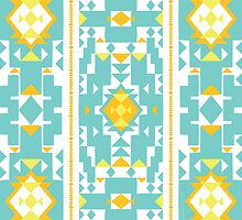 Cool New Mexico Adobe Soft Seafoam Teal by aygeartist