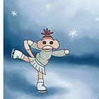 Ice Skating Monkey by Darthblueknight