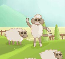 Sheep Sock Monkey by Darthblueknight