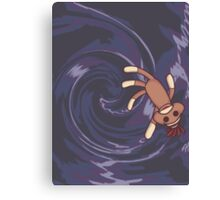 Wormhole Sock Monkey Canvas Print