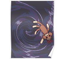 Wormhole Sock Monkey Poster
