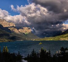 Storm Above St. Mary Lake Glacier National Park by Kathleen Bishop