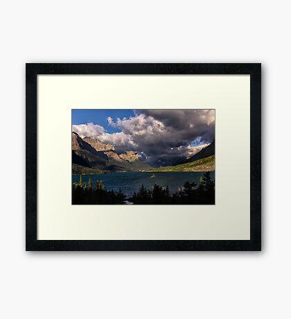 Storm Above St. Mary Lake Glacier National Park Framed Print