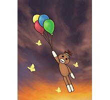 Balloon Sock Monkey Photographic Print