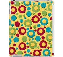 Red Blue and Green Dots on Yellow iPad Case/Skin