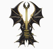 Gothic Black Guitar Bat Wings by Bluesax