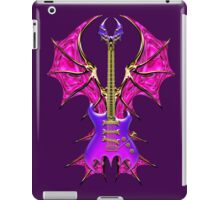 Gothic Purple Guitar Bat Wings iPad Case/Skin