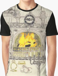 A Dining Room In A Medieval Castle Graphic T-Shirt
