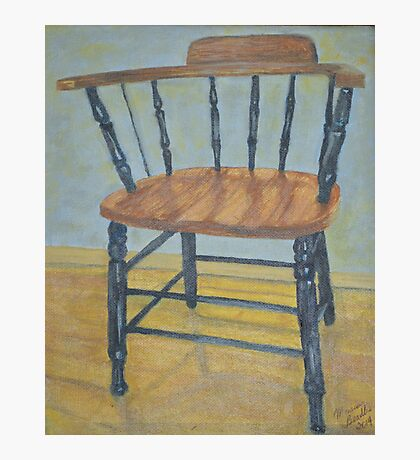 The Old Workshop Chair Photographic Print