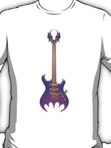 Purple Gothic Bat Guitar T-Shirt