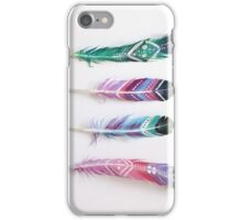 Retro Patterned Feathers iPhone Case/Skin