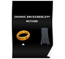 Choose invisibility method Poster