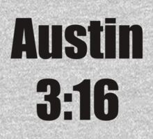 Austin 3:16 … Black text by OliveB