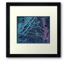 Civil War Maps 1075 Map showing the location of battle fields of Virginia Inverted Framed Print