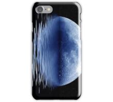 Bright Blue Moon on Water iPhone Case/Skin