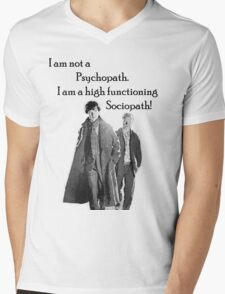 Sherlock High Functioning Sociopath Tee Mens V-Neck T-Shirt