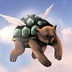 Flying Turtle Bear by Darthblueknight