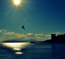 sunset in bodrum by gzmguvenc89
