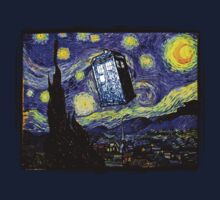 The Tardis in the Starry Night Kids Clothes