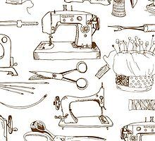 Sewing tools, vintage by Julia Hromova