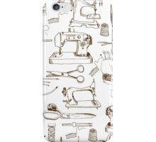 Sewing tools, vintage iPhone Case/Skin