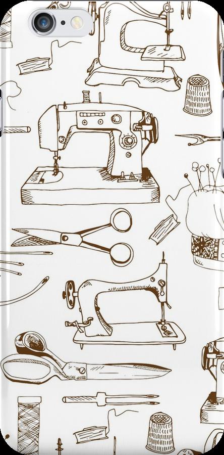 Sewing tools, vintage by Julia Hromova