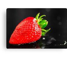 Wet Strawberry Canvas Print