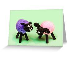 Black Sheeps Greeting Card