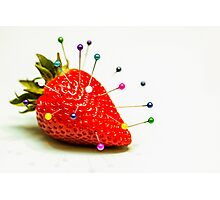 Strawberry Pins Photographic Print